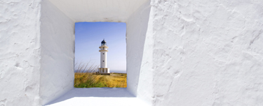 Formentera mediterranean white wall window