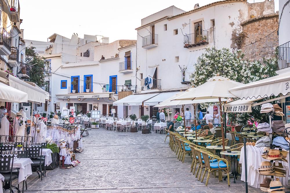 Walking In Ibiza Old Town