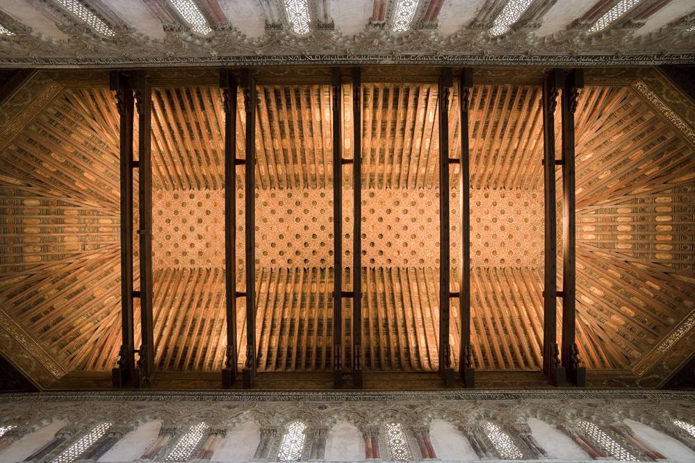 Toledo. Sinagoga del Tr‡nsito - Artesonado de la Sala de Oraci—n